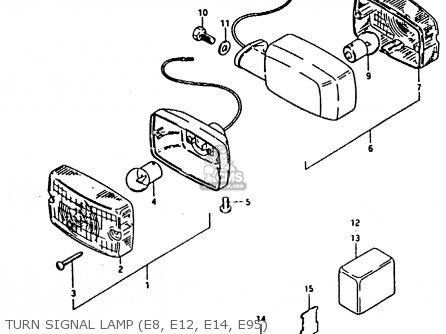 suzuki fr80 1981  x   e02 e08 e12 e14 e95  parts list