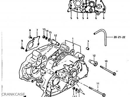 Suzuki Fr80 1983 d Crankcase