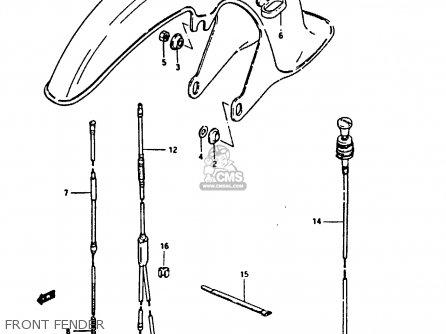 Suzuki Fr80 1983 d Front Fender