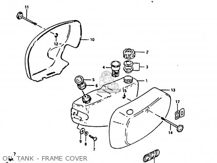 Suzuki Fr80 1983 d Oil Tank - Frame Cover