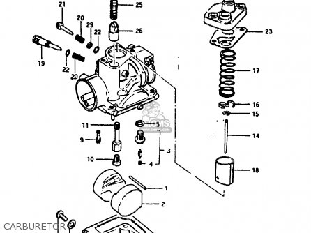Suzuki Fr80 1983 d United Kingdom e02 Carburetor