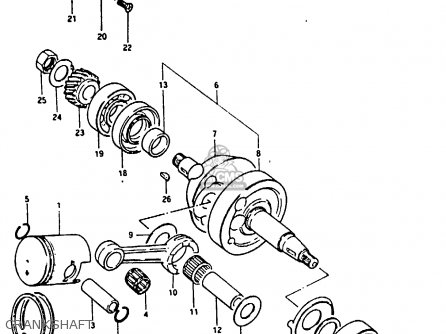 Suzuki Fr80 1983 d United Kingdom e02 Crankshaft