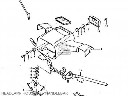Suzuki Fr80 1983 d United Kingdom e02 Headlamp Housing - Handlebar