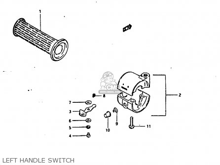 Suzuki Fr80 1983 d United Kingdom e02 Left Handle Switch