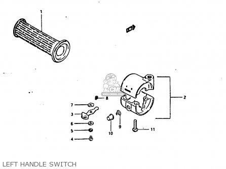 Suzuki Fr80 1983 d United Kingdom e02 Left Handle Switch