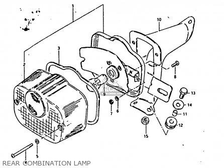 Suzuki Fr80 1983 d United Kingdom e02 Rear Combination Lamp