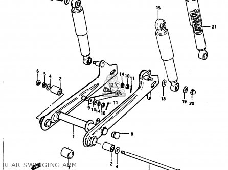 Suzuki Fr80 1983 d United Kingdom e02 Rear Swinging Arm