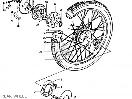 Suzuki Fr80 1983 d United Kingdom e02 Rear Wheel