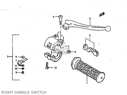 Suzuki Fr80 1983 d United Kingdom e02 Right Handle Switch