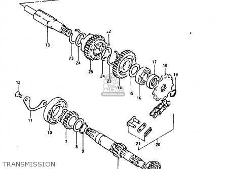 Suzuki Fr80 1983 d United Kingdom e02 Transmission