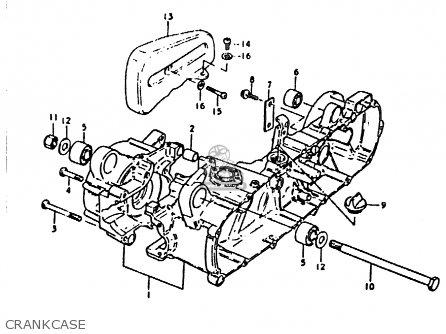 Suzuki Fz50 1979 n Crankcase