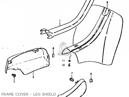 Suzuki Fz50 1979 n Frame Cover - Leg Shield
