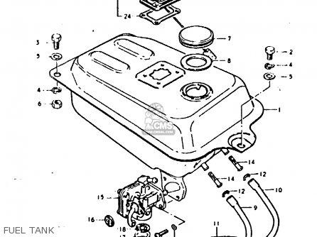 Suzuki Fz50 1979 n Fuel Tank