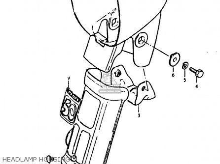 Suzuki Fz50 1979 n Headlamp Housing