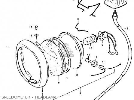 Suzuki Fz50 1979 n Speedometer - Headlamp