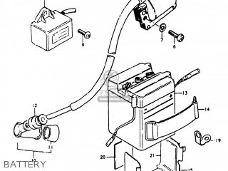suzuki fz50 1980 (t) usa (e03) parts lists and schematicssuzuki fz50 1980 (t) usa (e03) battery