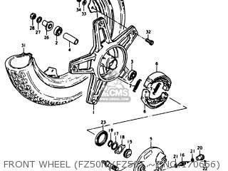 suzuki fz50 1980 (t) usa (e03) parts lists and schematicsfront wheel (fz50n)(fz50t ~f no 170666)