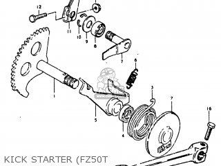 suzuki fz50 1980 (t) usa (e03) parts lists and schematicskick starter (fz50t suzuki fz50 1980