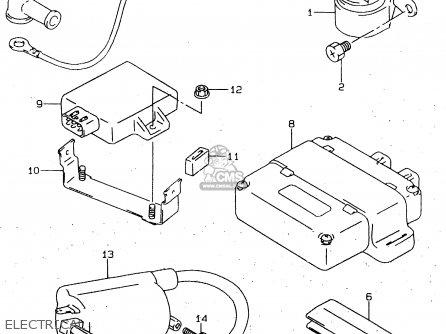 suzuki gn125 1997  ev  parts list partsmanual partsfiche