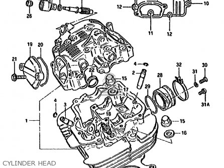 Suzuki Gn E M General E Cylinder Head Mediumsue Fig C on Suzuki Gn 250 Wiring Diagram