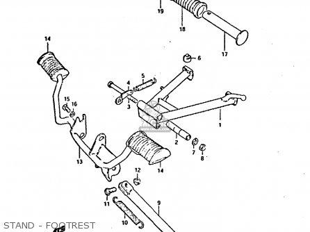 suzuki gp125u 1981 (x) sweden greece (e17 e41) parts list ... suzuki gp100 wiring diagram #15
