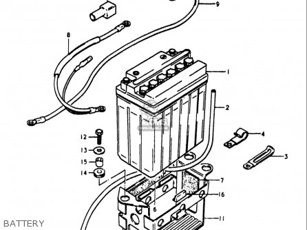 Suzuki Gs1100 Lt 1980 usa Battery