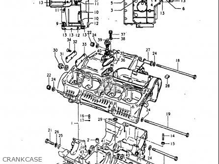 Suzuki Gs1100 Lt 1980 usa Crankcase