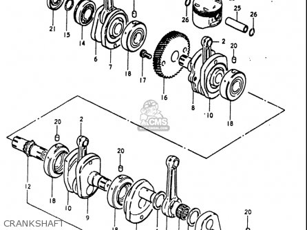 Suzuki Gs1100 Lt 1980 usa Crankshaft