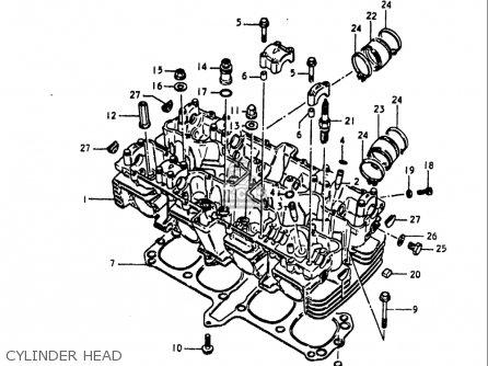Suzuki Gs1100 Lt 1980 usa Cylinder Head