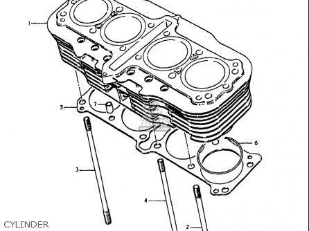 Suzuki Gs1100 Lt 1980 usa Cylinder