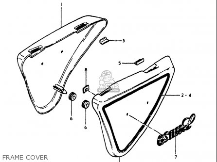 Suzuki Gs1100 Lt 1980 usa Frame Cover