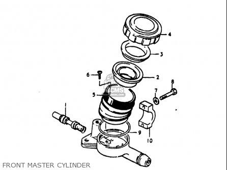 Suzuki Gs1100 Lt 1980 usa Front Master Cylinder