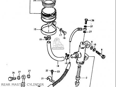Suzuki Gs1100 Lt 1980 usa Rear Master Cylinder