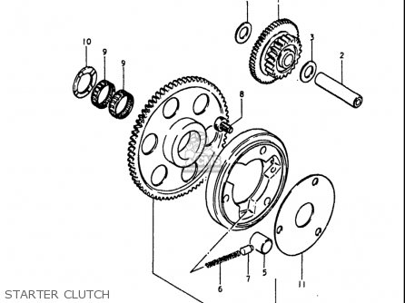Suzuki Gs1100 Lt 1980 usa Starter Clutch