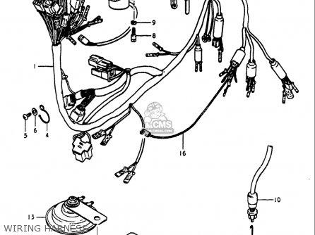 Suzuki Gs1100 Lt 1980 usa Wiring Harness