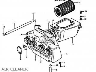 Suzuki GS1100E 1980 (T) USA (E03) parts lists and schematics