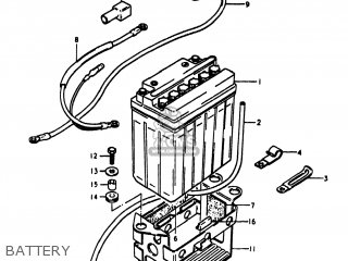 Suzuki Gs1100lt 1980 t Usa e03 Battery