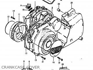 Suzuki Gs1100lt 1980 t Usa e03 Crankcase Cover