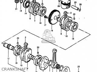 Suzuki Gs1100lt 1980 t Usa e03 Crankshaft
