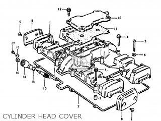 Suzuki Gs1100lt 1980 t Usa e03 Cylinder Head Cover
