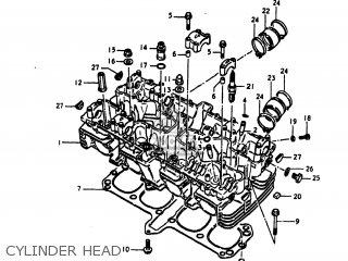 Suzuki Gs1100lt 1980 t Usa e03 Cylinder Head