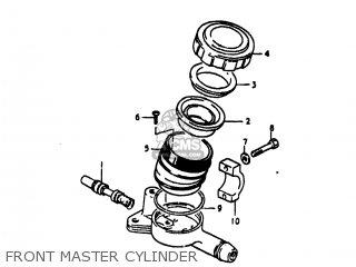 Suzuki Gs1100lt 1980 t Usa e03 Front Master Cylinder