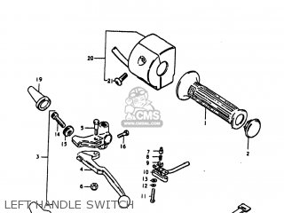 Suzuki Gs1100lt 1980 t Usa e03 Left Handle Switch