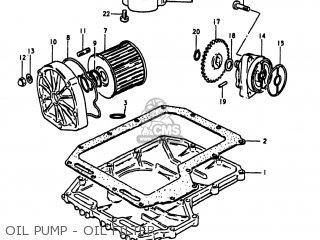 Suzuki Gs1100lt 1980 t Usa e03 Oil Pump - Oil Filter