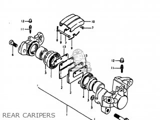 Suzuki Gs1100lt 1980 t Usa e03 Rear Caripers