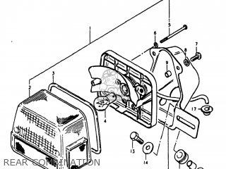 Suzuki Gs1100lt 1980 t Usa e03 Rear Combination