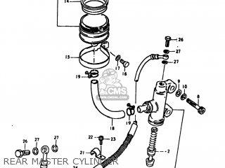 Suzuki Gs1100lt 1980 t Usa e03 Rear Master Cylinder