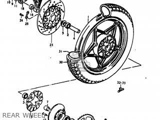 Suzuki Gs1100lt 1980 t Usa e03 Rear Wheel