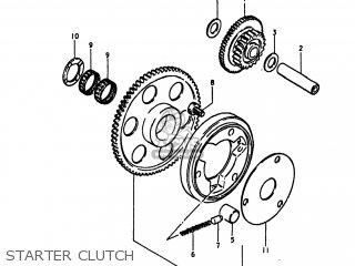 Suzuki Gs1100lt 1980 t Usa e03 Starter Clutch