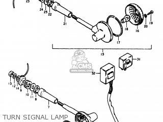 Suzuki Gs1100lt 1980 t Usa e03 Turn Signal Lamp